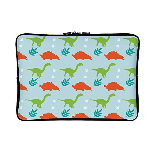 DKISEE Abstract Dinosaur Neoprene Laptop Sleeve Case Waterproof Sleeve Case Cover Bag 15 inch for MacBook/Notebook/Ultrabook/Chromebooks