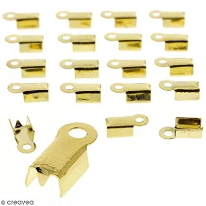 20 pcs Embouts pince-lacets Dor/é 4 mm