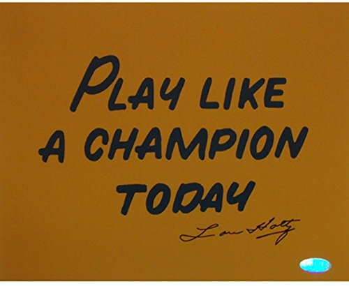 NCAA Notre Dame Fighting Irish Lou Holtz Play like a Champion Today Photograph, 8x10-Inch -
