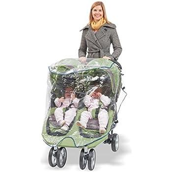 Universal Double Jogging Stroller Waterproof Rain Cover Wind Shield Comfy Baby