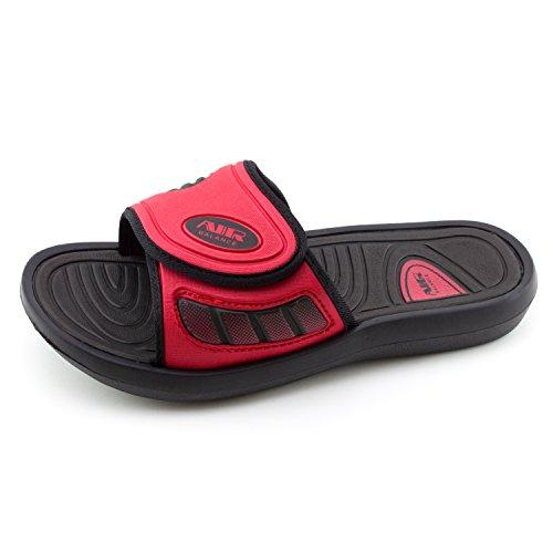 Luftbalans Mens Krok Och Ögla Inställbara Låsan Flip Flops (vuxna) Röd