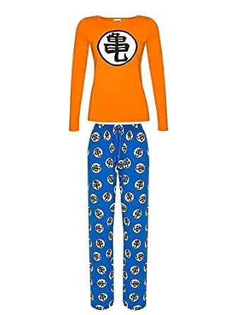 Dragon Ball Z Kame Pijama naranja/azul XS