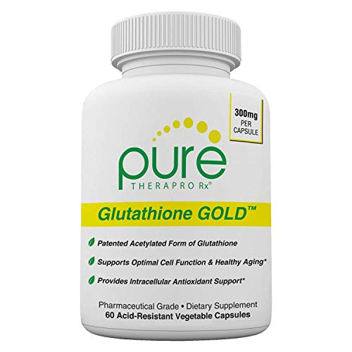 S-Acetyl Glutathione Gold 300mg PER Capsule – 60 DRcaps Acid-Resistant Extra-Strength Patented Acetylated Form of Glutathione Emothion Pharmaceutical Grade Free-of Harmful Stearates