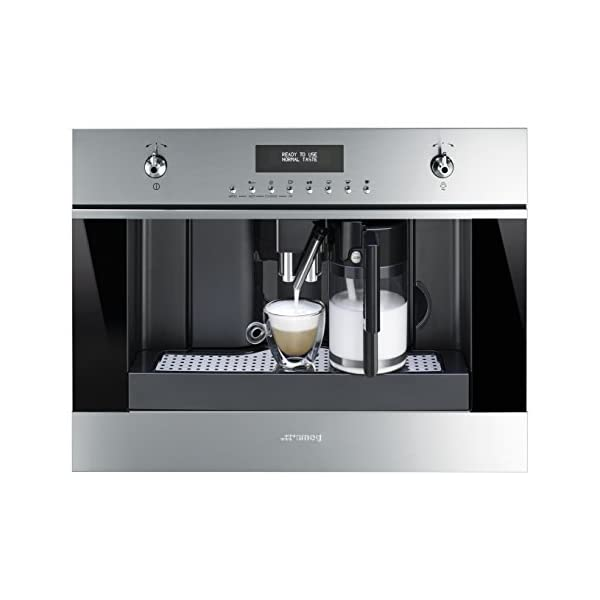 """Smeg 24"""" Built In Fully Automatic Coffee Machine with Milk Frother, Stainless Steel 2"""