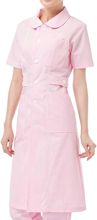What Did Women Wear in the 1950s? 1950s Fashion Guide Nanxson Women's Turn-Down Collar Short Sleeve Doctor Nurse Uniform Coat Workwear ME0010 $14.99 AT vintagedancer.com