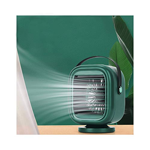 Ymibull Rotatable Water-Cooled Fan Portable Desk Air Conditioner Fan Charfeable Air Cooler (Green)
