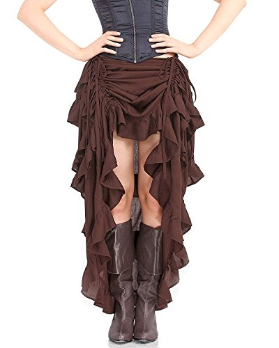 ThePirateDressing Steampunk Victorian Gothic Womens Costume Show Girl Skirt (X-Large) -