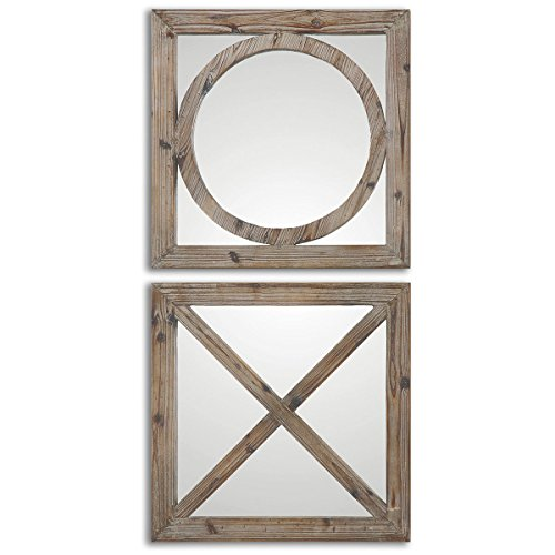 Uttermost 7067 Baci E Abbracci Wooden Mirrors (Set of 2) by Uttermost