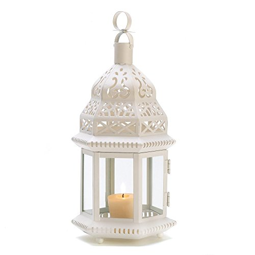 15 WHOLESALE WHITE MOROCCAN STYLE LANTERN WEDDING CENTERPIECES]()
