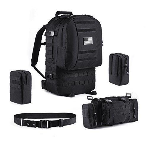 Tactical Backpack Military Outdoor 3-day Assault Pack 60L Survival Rucksack 1000D Army Molle Bug Out Bag Perfect for Hiking Trekking Travelling and Hunting by Trekking King (Image #3)