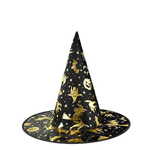 Spiderweb Skull Witch Hat Wizard Hats Caps Adults Carnival Accessories Party Christmas Halloween,Witch Pumpkin -