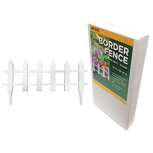 allFENZ White Vinyl Picket Border Fence 12