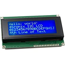 RioRand LCD Module for Arduino 20 x 4, White on Blue