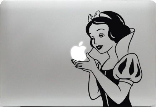 Macbook Sticker Aufkleber Schneewittchen Snow White Decal