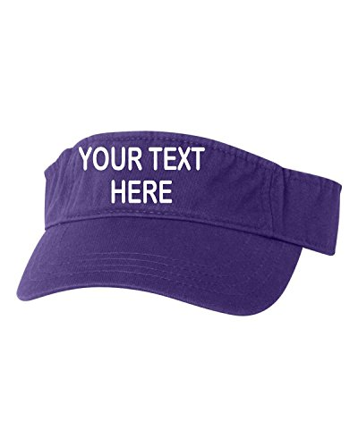 e Purple Adult Customized Add Your Own Text Embroidered Visor Dad Hat ()