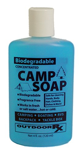 Outdoor RX Biodegradable, Concentrated, Fragrance Free Camp Soap, 4 Ounce