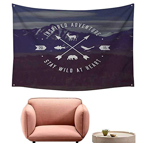 Simple Tapestry Cabin Decor Adventure Emblem Outdoor