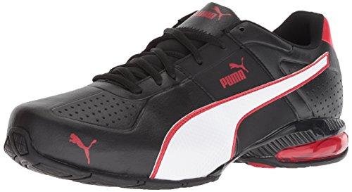 PUMA Men's Cell Surin 2 FM Sneaker, Black White-Ribbon red, 10.5 M US ()