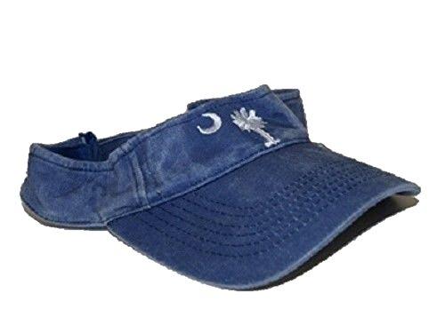 - RFCO Blue Jeans Denim Washed Style South Carolina Palmetto Visor hat Cap