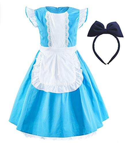 Princess Cinderella Rapunzel Little Mermaid Dress Costume for Baby Toddler Girl (5, Alice)]()