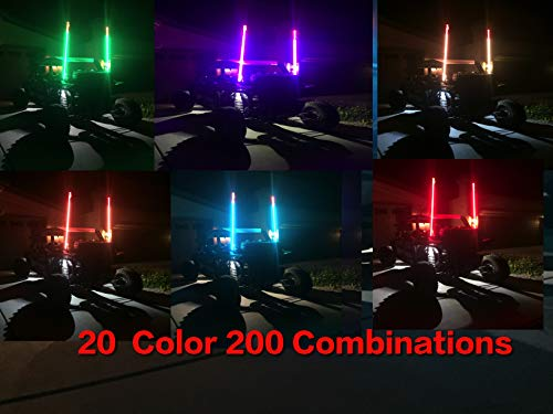 (20 Color 200 Combination 5ft LED Whip (Remote Controlled))