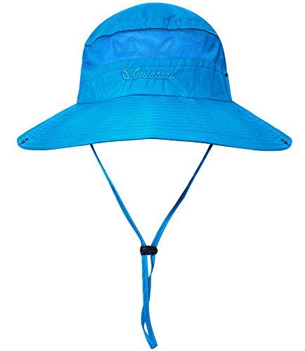 Senker Unisex Outdoor Bucket Mesh boonie Fishing Sun Hat (Sky - Lightweight Sky Hat Blue