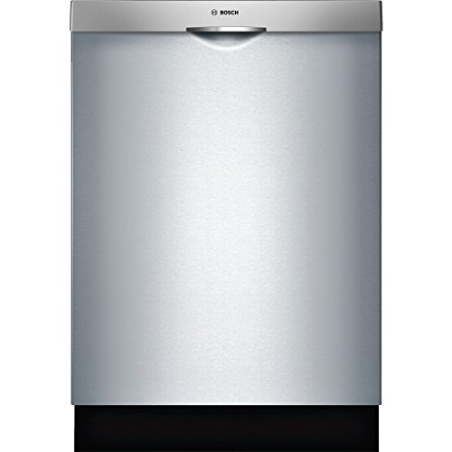 Bosch SHS5AV55UC 24″ Ascenta Energy Star Rated Dishwasher with 14 Place Settings Stainless Steel Tall Tub 24/7 Overflow Protection System 6 Wash Cycles and Info Light in Stainless
