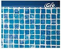 Liner Gresite para Piscinas Ovaladas Altura 120-730 x 375 cm, Gresite, Ovalada, 120 cm