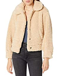 Women's Majorie Collared Long Sleeve Shearling Button Up Jacket
