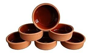 6 Auflaufformen aus Ton, Schalen für Tapas, Gratin Güvec, Greixonera, Cazuela