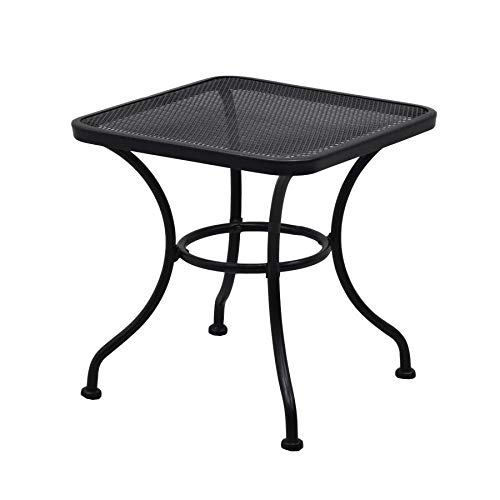 Garden Treasures Davenport Square End Table 18-in W x 18-in L (Garden Small Black Table)