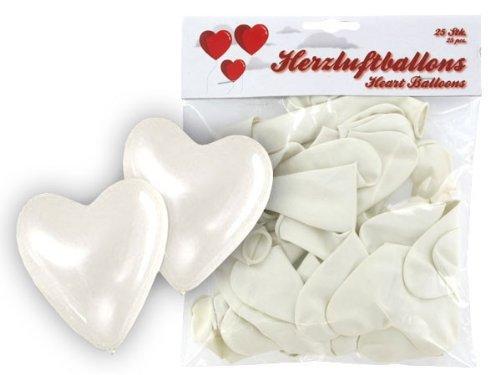 Alsino Set di Palloncini a Forma di Cuore 25 PZ in Bianco Matrimonio Nozze Festa Evento Compleanno Cerimonia Decorazione allestimento Romantico Amore San Valentino