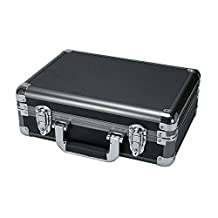 SRA Cases EN-AC-RB-340 Gun Metal Aluminum Hard Case 13.4x9.5x4.7-Inch, Grey