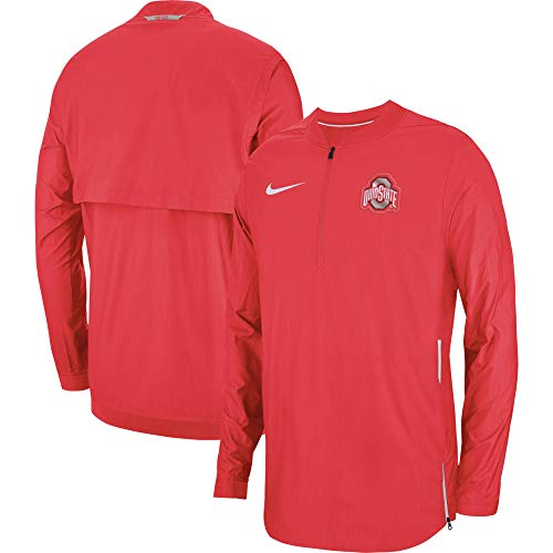 Nike Ohio State Buckeyes 1/2 Zip Sideline Lockdown Jacket (Medium)