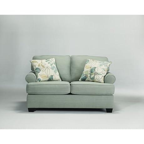 Daystar Contemporary Blue Fabric Loveseat