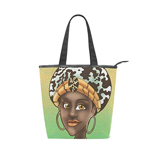 Africa Women Canvas Shopping Tote Bags For Women Handbag by Simple Eleven