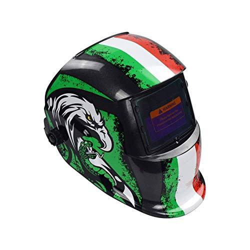 Casco para Soldar Energía Solar Capa De Oscurecimiento Automático Soldador Máscara Cascos De Pulido Transpirables-Un: Amazon.es: Bricolaje y herramientas