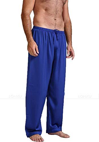 SmarketL High end Mens Silk Satin Pajamas Pyjamas Pants Lounge Sleep Bottoms,XXXX-Large,Invie, (Maxi Dress For Wedding In Pakistan 2016)