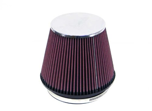 Acura Integra K&n Air Filter - K&N RF-1013 Universal Clamp-On Air Filter: Round Tapered; 6 in (152 mm) Flange ID; 6 in (152 mm) Height; 7.5 in (191 mm) Base; 5 in (127 mm) Top