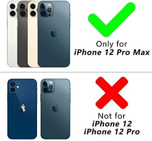 CloudValley Camera Lens Protector for iphone 12 Pro Max, Tempered Glass Film, Aluminum Alloy Screen Cover, 3 Pack Blue, with Cleaning Kit