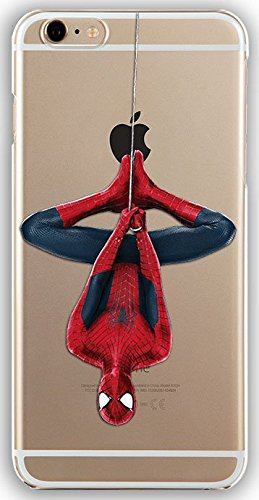 Silicone Gel Cover Case with Spiderman design for Iphone 6 6s (4.7in) (spider03s)