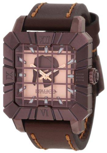 Italico Men's ITGB04-F Gladiatore Square Bronze IP Luminous Golden Leather Watch