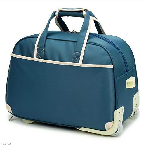スタイリッシュなシンプルさオックスフォードブラスバッグ大容量トラベルバッグ防水タグボート男性と女性のショートボーディングバッグ 旅行用ハンドバッグ (色 : 青, サイズ : L) B07NV7D5LR