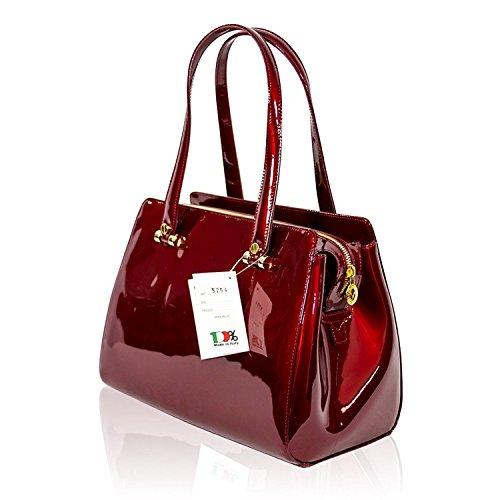 Valentino à Sac Orlandi cuir rouge texturé en cerise main AvrAwTfqW7