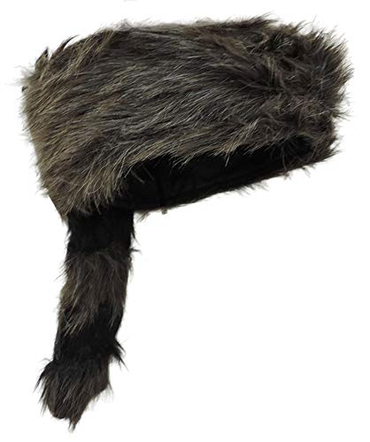 Adult Coonskin Daniel Boone Mountain Man Hat (Racoon Tail Hats)