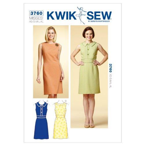 Kwik Sew K3760 Dresses Sewing Pattern, Size XS-S-M-L-XL (Dress Princess Sew)