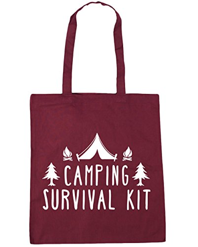 Shopping Bag 42cm Tote Camping Beach 10 litres survival Gym kit HippoWarehouse Burgundy x38cm qI0fwx