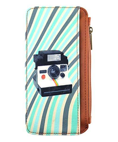 Mlavi retro Polaroid Instant Camera print vegan/faux leather cardholder