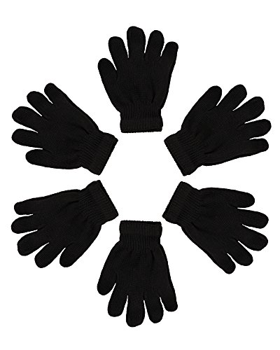 2ND DATE Kid's Winter Magic Gloves-Black-Pack of 12 for $<!--$17.95-->