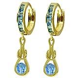 ALARRI 2.5 Carat 14K Solid Gold Love Knot Blue Topaz Earrings